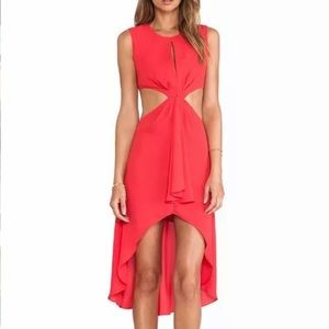 NWT BCBG cut out high low dress